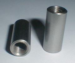 20 St/ück M10 x 20 mm Rundmuffe - Gewindemuffen rund Eisenwaren2000 Edelstahl A2 V2A rostfrei